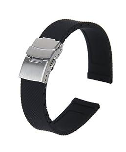 Gleader Banda Reloj Pulsera Con Hebilla Correa Silicona Caucho Impermeable 20mm Deportes