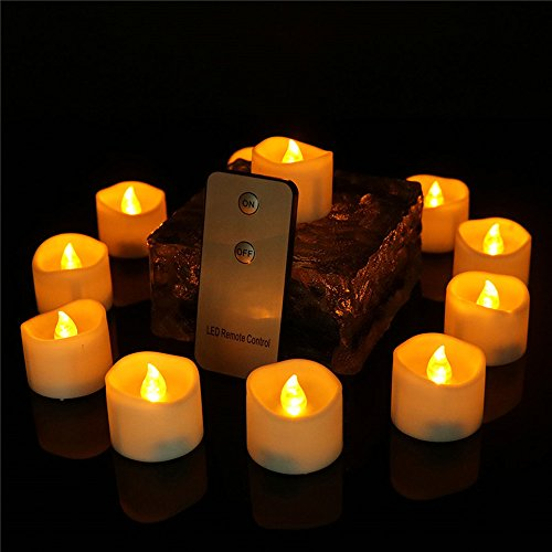Led Artificial Flameless Candle With Remote Control Long Lasting Home Decorative Small Flickering Romantic Birthday Party Battery Operated Tealight Candle For Halloween Christmas, 24 Pack, CDL1919R