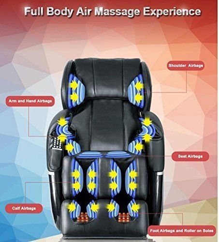 New Electric Full Body Shiatsu Massage Chair Recliner Zero Gravity w/Heat (Chair Massage New)