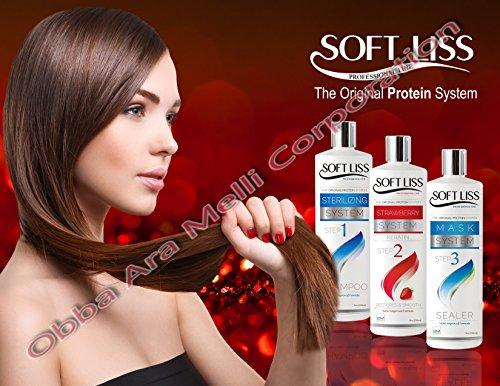 Keratin Brazilian Treatment Soft Liss Morango kit 8oz Keratina de Fresa Hair Treatment Formaldehyde Free