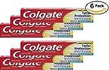 Colgate Anticavity, Crisp Mint, Tartar Protection Whitening Gel Toothpaste, 6 Pack - 2.5 Oz Ea (Total 15 Oz)