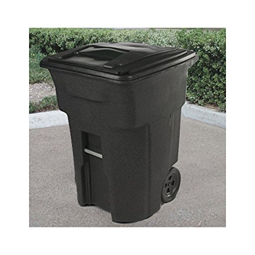 64 Gal Trash Can With Wheels Lid Heavy Duty Tall Garbage