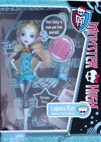 [Monster High LAGOONA BLUE DOLL w DIARY Daughter of The Sea Monster (2011)] (Monster High Lagoona And Gil)