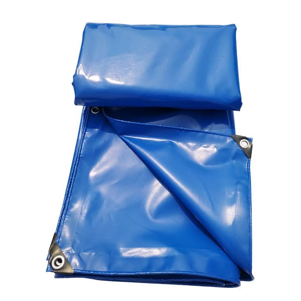 Plane PVC Messer Schaben Tuch Baldachin Tuch Wasserdicht Leinwand Regen Tuch Sonnenschutz Regen Tuch (Blau)