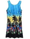 Halife Women's Tight Floral Tank Dress Summer Sleeveless Dresses Blue,XXL