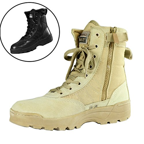 New Tactical Trendy Comfort Leather Combat Military Ankle Boots Army Shoes