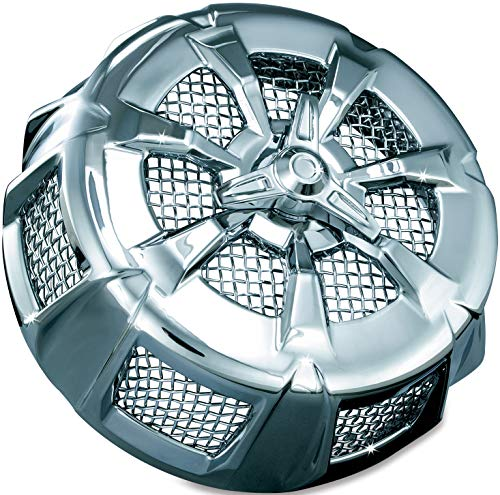 - Kuryakyn 9439 Alley Cat Air Cleaner/Filter Cover for 1999-2017 Harley-Davidson Motorcycles, Chrome