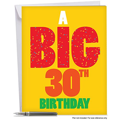 30th Birthday Greeting Card With Envelope (8.5