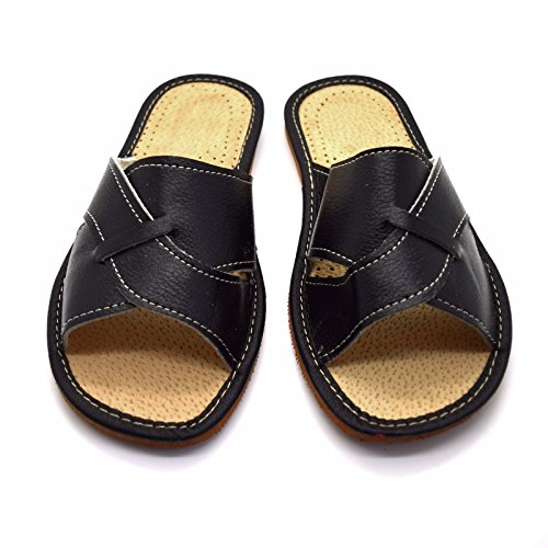 Negro Zapatos mujer tamaños piel de Sandalias para cordones ecológica Mulas Zapatillas sin Todos los de mujer 0UqxA5Z