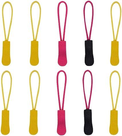 Yihaifu 10 Pezzi Colore Brillante Zipper Extension Colori Cerniera Estensione Brillante di plastica in PVC Abbigliamento Sportivo Cerniera Testa Tira Colore Casuale