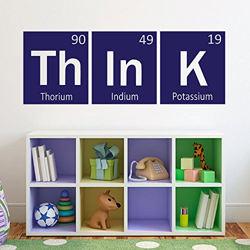 Great Think Wall Decal Periodic Table Elements Vinyl Science Decor For Living Room  Kids Bedroom Navy Blue Xs Geek Amazon Com. Luxury Inspiration ...