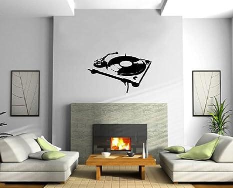 Diseño de tocadiscos House Music DJ Decoración Para Pared ...