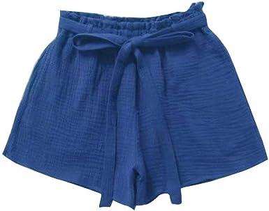 Pantalones Cortos Para Pantalón Corto Elástico Mujer De Algodón ...
