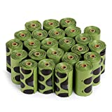 Ecog Biodegradable Dog Poop Bags Unscented 24 Refill Rolls Large Size 9'' X 13'' Durable Thick Dog Waste Bags Easy Tear-off Leak-proff (360-count)