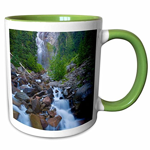 3dRose 95666_7 Spray Falls, Wonderland Trail, Mt Rainier NP Washi Ceramic Mug, (Stream Mt Rainier National Park)
