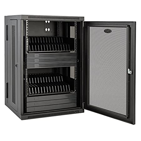 Tripp Lite 32-Port AC Charging Storage Station Cabinet for iPad and Android Tablets, Wall Mount and Cart Options (CS32AC), Black