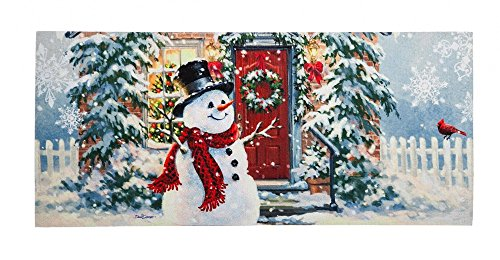 - Evergreen Easy to Clean Snow Place Like Home Decorative Mat Insert, 10 x 22 inches by Evergreen Enterprises