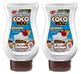 Simply Squeeze Coco Real Gourmet Cream of Coconut (Pack of 2) 21 oz Size by American Beverage Marketers