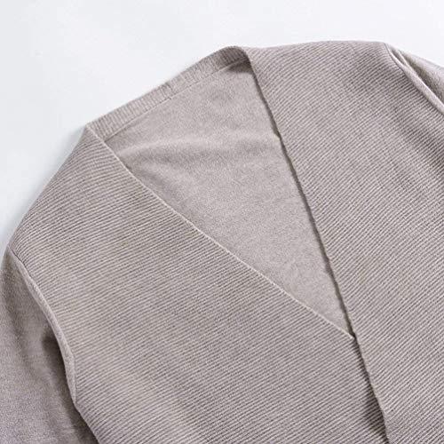 Cardigan Cardigan Cardigan Casual Lunga Autunno Monocromo Irregular Festa Elegante Donna Moda Manica Giaccone Confortevole Style Kamel Cappotto Coat Lunga Ragazze OqnrAOw