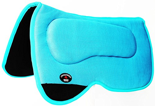 CHALLENGER Western Horse Saddle PAD 23×22 Anti Slip Memory Foam Pony Turquoise 3964TRP