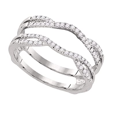 Amazon Com Jewels By Lux 14kt White Gold Womens Round