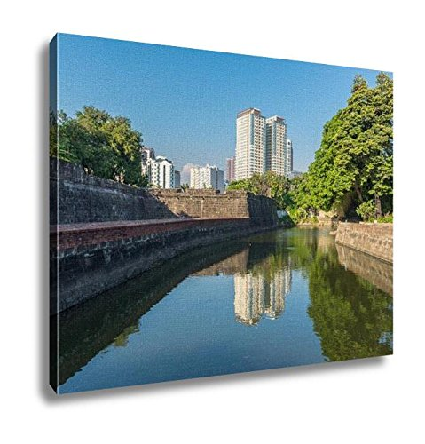 Ashley Canvas, The View Of Fort Santiago And Buildings Along The Pasay River Intramuros Manila, Home Decoration Office, Ready to Hang, 20x25, AG5974561 by Ashley Canvas