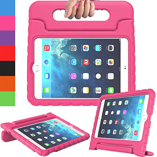 AVAWO Apple iPad Mini 1 2 3 Kids Case - Light Weight Shock Proof Handle Stand Kids for iPad Mini, iPad Mini 3rd Generation, iPad Mini 2 with Retina Display - Rose