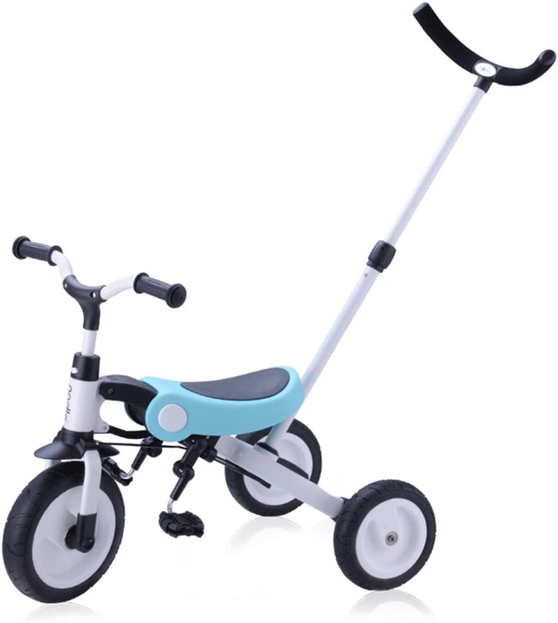 CN Cover Los niños del Triciclo Bicicletas, Ligero Carretilla Plegable for 2-6 Años de Edad Bicicleta de Equilibrio del Coche
