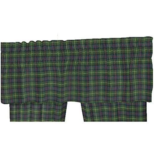 Patch Magic Green Tartan Plaid Fabric Curtain Valance, 54 by 16-Inch
