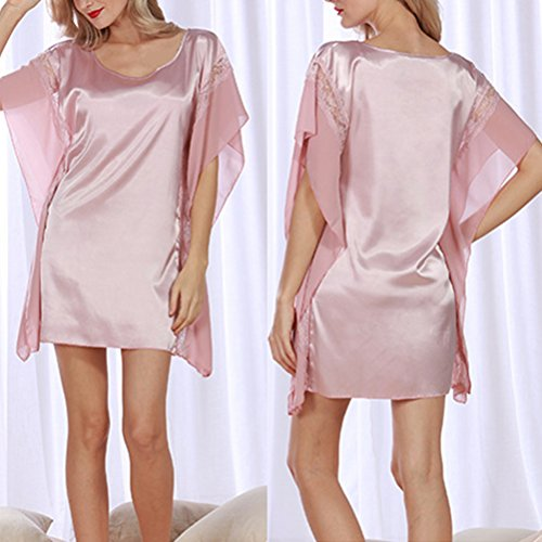 Zhhlaixing Fashion Silk Bridesmaid Bride Robe Women Short Satin Wedding Kimono Robes Sleepwear Nightgown Dress Woman Bathrobe Pajamas 2109# Pink