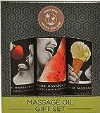 Edible Massage Oil Gift Set Box - Strawberry, Vanilla, and Watermelon 2 Oz. Each
