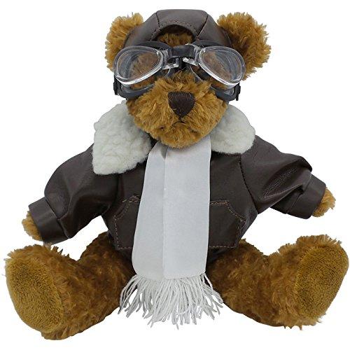 Bear Aviator (Unipak Designs Inc Plush Pilot Bear 10