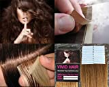 20 Pcs X 18″ inches Remy Seamless Tape Skin weft Human Hair Extensions Color # 7 Dark Blonde Review