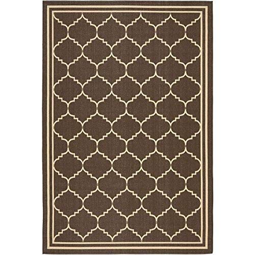 Safavieh Courtyard Collection CY6889-204 Chocolate and Cream Indoor/ Outdoor Area Rug (5