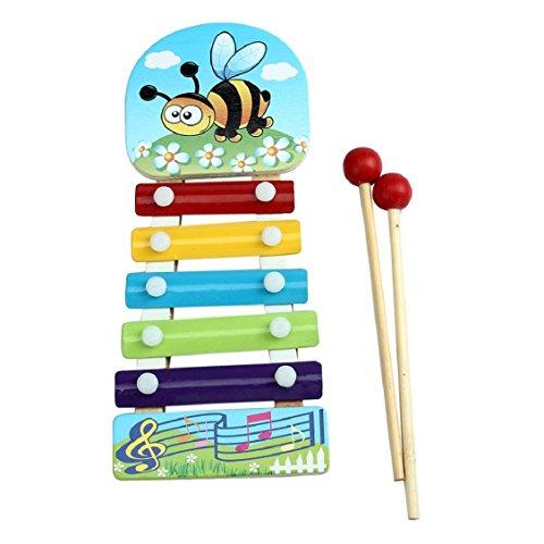 Naladoo Baby Kid Musical Toys Xylophone Wisdom Development Wooden Instrument by Naladoo