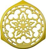 le creuset cast iron trivet - Le Creuset Enameled Cast-Iron 9-Inch Deluxe Round Trivet, Soleil