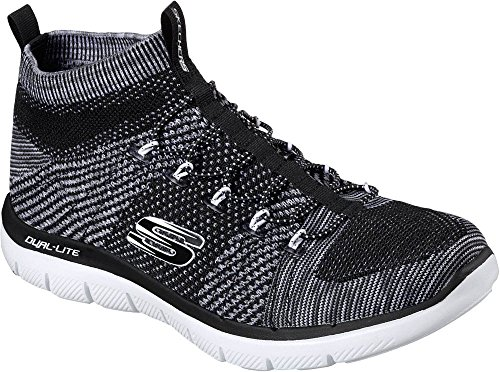 Skechers Mens Flex Advantage 2.0 Rigsbee Fashion Sneakers Nero / Bianco D (m) Us Black / White