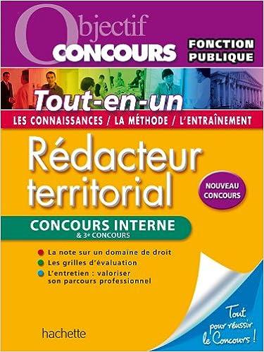 Livre Rédacteur territorial et rédacteur principal 2ème classe - Concours internes et 3è concours pdf, epub ebook