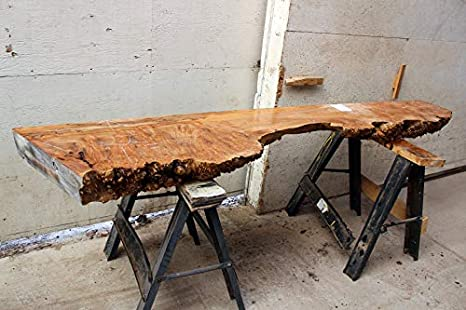 Figured Live Edge Bench Top Natural Maple Raw Wood Slab