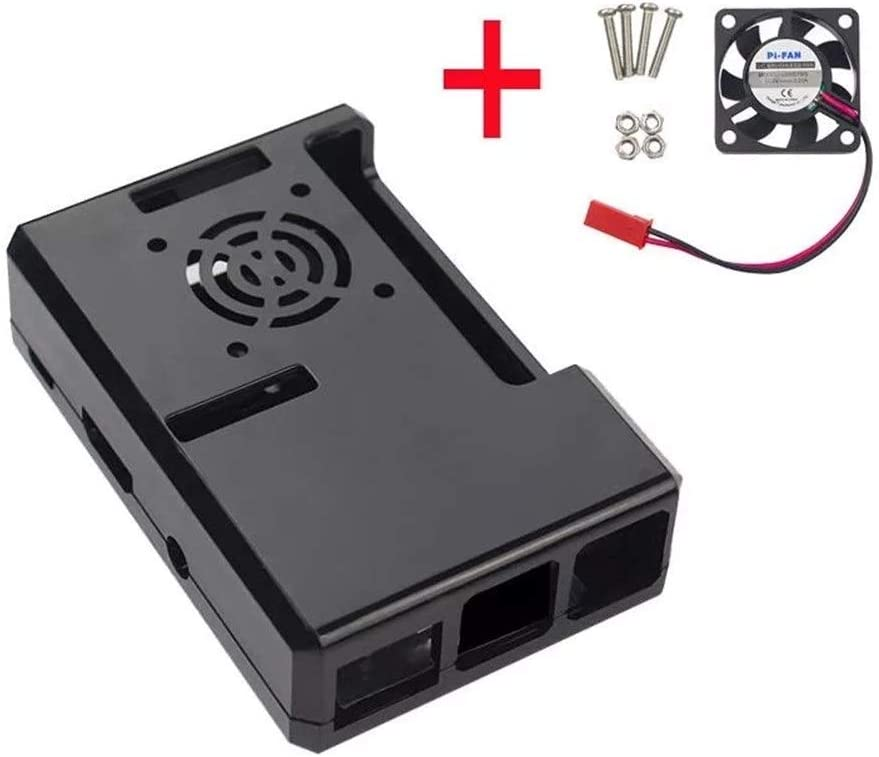 Nrthtri smt Black ABS Case with Fan Hole CPU Cooling Fan Fit for Raspberry Pi 3//2 Board