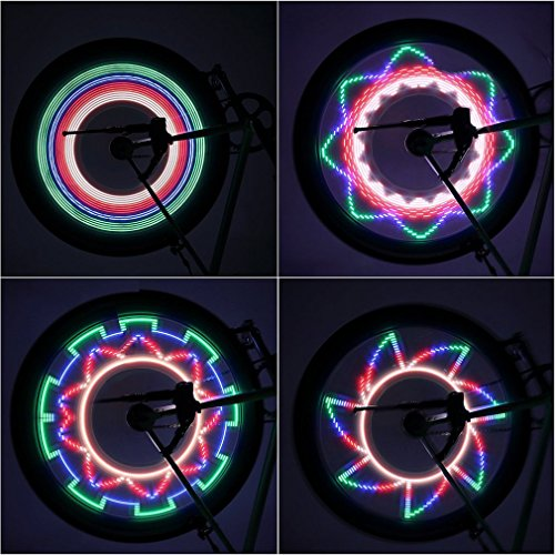 OUTAD LED Bike Wheel Lights, Waterproof Ultra Bright 32 LED Bicycle Wheel Spoke Decorations Light - 32 Different Patterns Change - Colorful Bicycle Tire Accessories - Easy To Install by OUTAD (Image #6)
