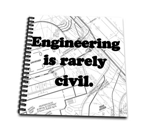 3dRose db_149859_1 Engineering is Rarely Civil Drawing Book, 8
