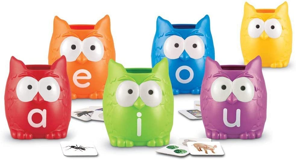 Learning Resources Vowel Owls Sorting Set manipulative for reading
