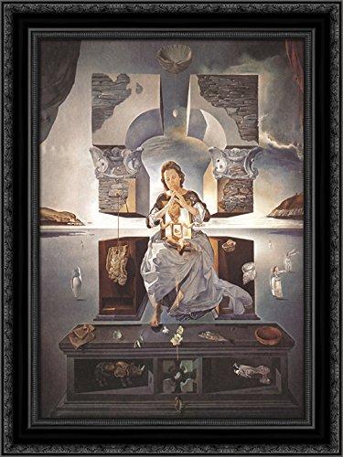 The Madonna of Port Lligat 24x18 Black Ornate Wood Framed Canvas Art by Salvador -