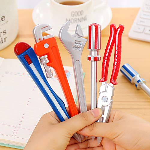 - Best Quality - Ballpoint Pens - 2pcs Multi Hardware Tools Ballpoint Pen Utility Knife Simitation Kids Gun Ball Pen Creative Office School Stationery Funny Gifts - by LA Moon's - 1 PCs