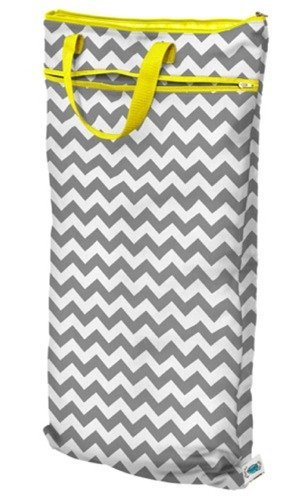 Planet Wise Hanging Wet/Dry Bag, Gray Chevron by Planet Wise