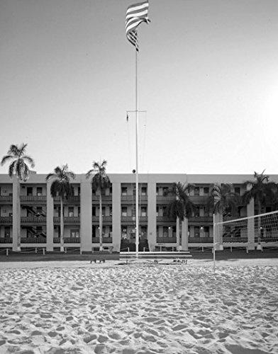 Historic Photo | U.S. Naval Base, Pearl Harbor, Flag Pole, Pearl City, Honolulu County, HI 1 Photograph 18in x (Pearl Harbor Flag)