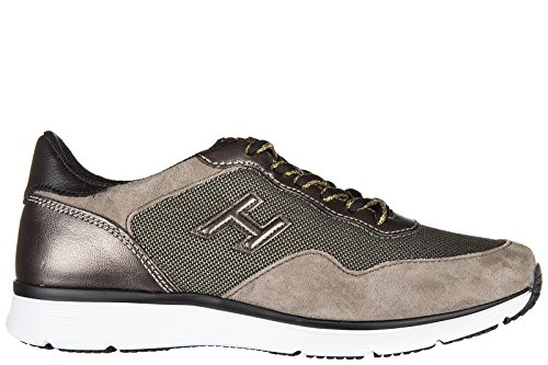 Hogan chaussures baskets sneakers femme en daim h254 h3d marron