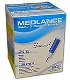 Medlance Plus Universal 21G Safety Lancets 200/bx