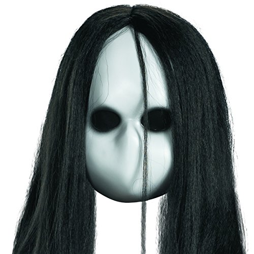 Blank Black Eyes Doll Mask Costume Accessory ()